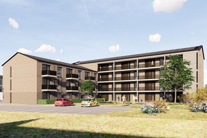 Aan de Grotestraat in Waalwijk worden 62 appartementen en een groepswoning gebouwd.