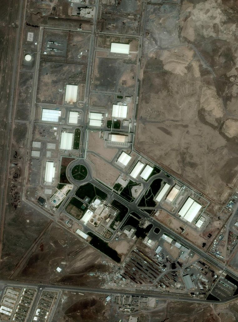De Iraanse fabriek voor uraniumverrijking, in Natanz. Beeld AP