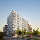 Toekomstbeeld van 'project Europa' in Bredene, met hotel en appartementen.