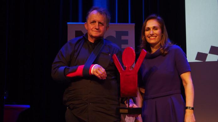 Hein te Riele nam de Lifetime Achievement Award in ontvangst op het Nationale Evenementen Congres.