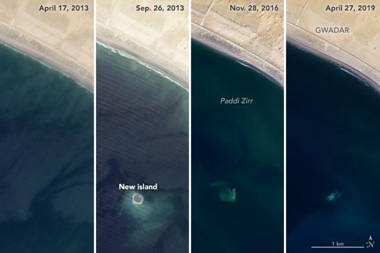 In 2013 verscheen het eiland 'Zalzala Jazeera' plots na een aardbeving. Inmiddels is het terug verdwenen.