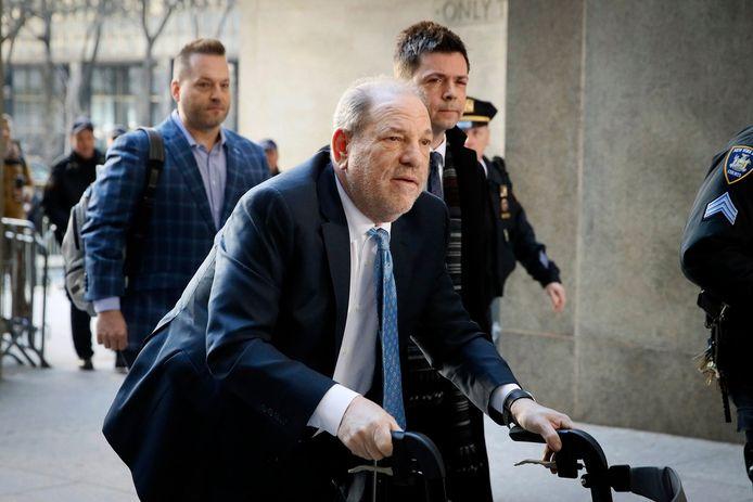 Weinstein tijdens zijn proces in februari. Sinds hij in de gevangenis verblijft, is zijn gezondheidstoestand dramatisch verslechterd, aldus zijn advocaten.