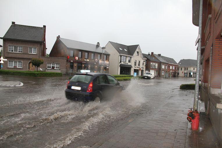 Het dorp van Hallaar stond enkele weken geleden opnieuw onder water
