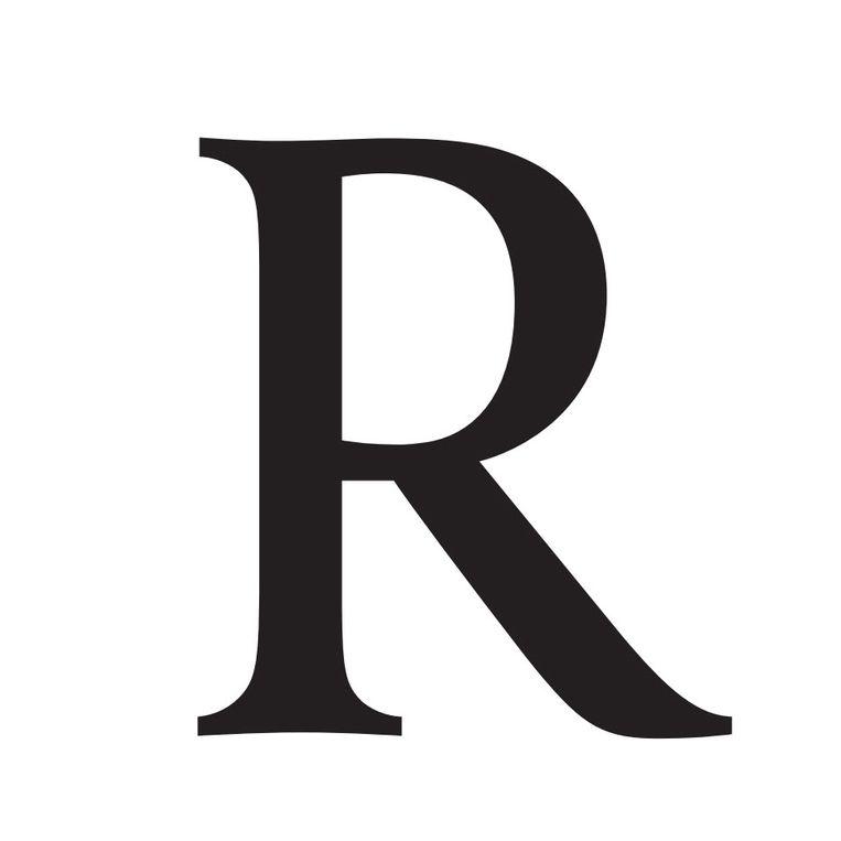 'Het zit 'm in die diagonaal. Trek hem links naar boven door en de lijn eindigt achter de verticaal. Dat geeft de R cachet. Eindigt die precies in de punt of ervoor, dan heb je niet eens een schreeuwer op een zeepkist. Dan heb je gewoon een R.' (Tegen de Volkskrant, in 2006) Beeld