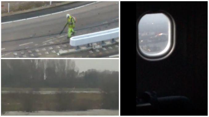 VIDEO: Windsurfen in storm, hobbelige landing op Schiphol en bladblazer blaast gewoon door