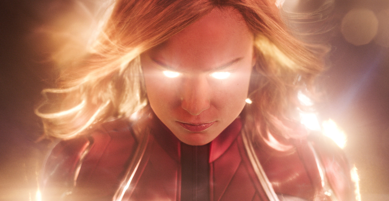 Brie Larson, zelf al een Oscar-winnares, in 'Captain Marvel'.