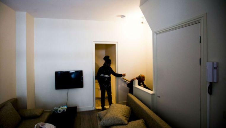 Het interieur van een twee jaar geleden gesloten illegaal hotel aan de Stromarkt Beeld Maarten Brante