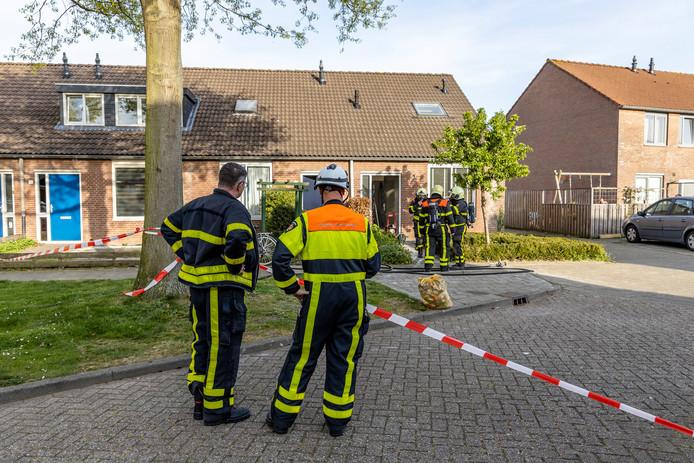 Gaslekkage in Oosterhout.