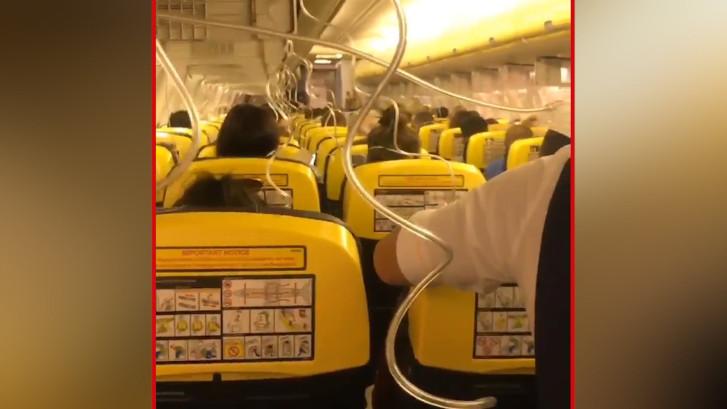 Beelden van helse Ryanair-vlucht Dublin naar Zadar