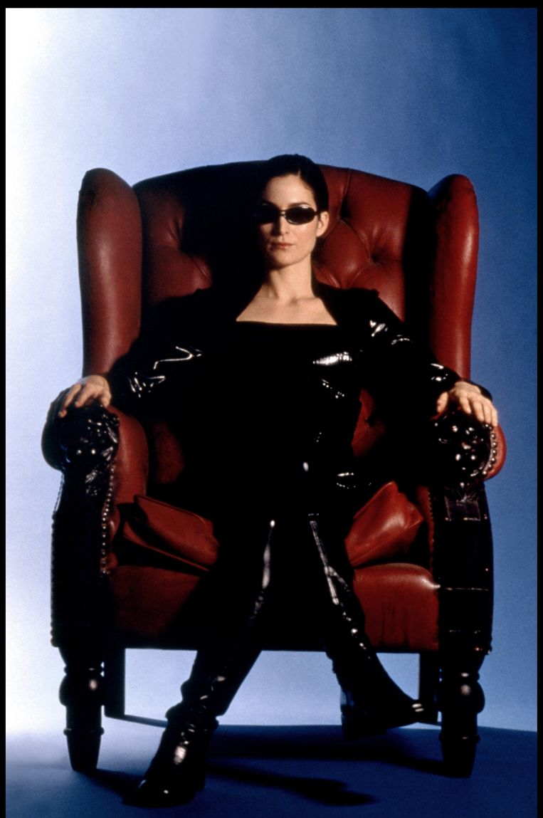 Carrie-Anne Moss als Trinity in The Matrix (1999).  Beeld Alamy Stock Photo