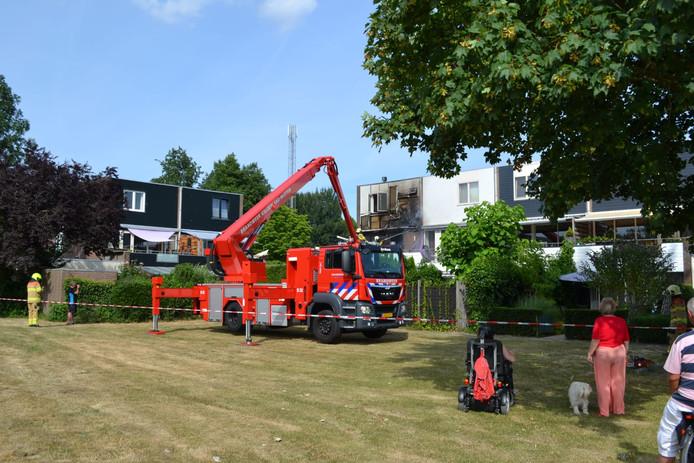 Op de Sportdreef in Huissen stond een huis in brand.