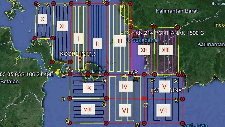 Het nieuwe zoekgebied omvat 13 zones in zee en op het land.