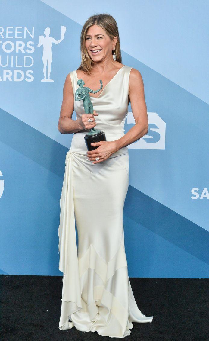 """Jennifer Aniston a reçu le prix de la meilleure actrice dans une série dramatique pour son rôle dans """"The Morning Show""""."""