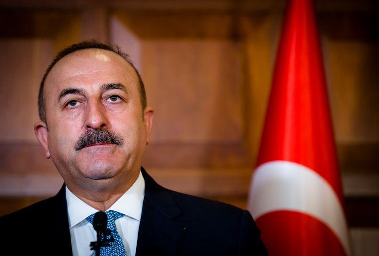 De Turkse minister van Buitenlandse Zaken  Mevlut Cavusoglu. Beeld ANP