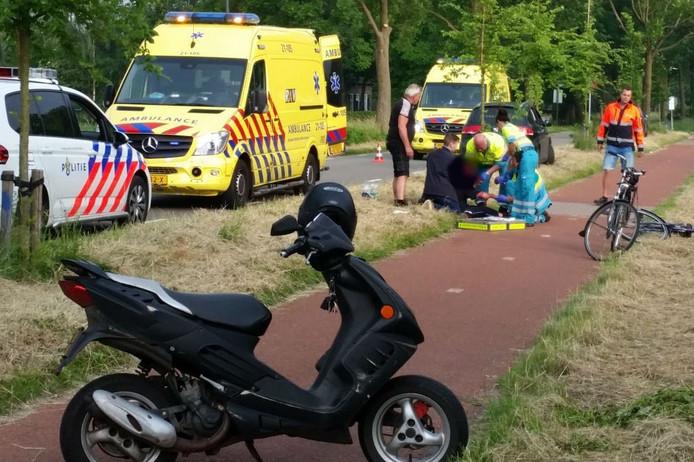 Een fietser kwam in Gemonde ongelukkig ten val.