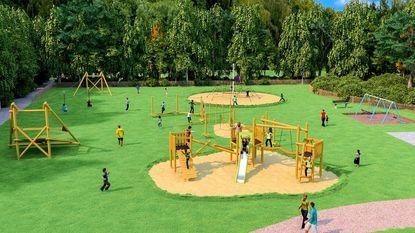 Nieuwe speeltuin op recreatiedomein 'Ter Heide'
