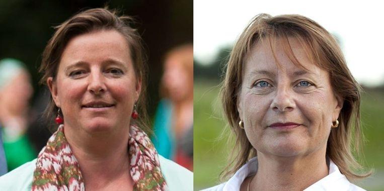 Gemeenteraadslid Sara Waelbers (Groen) en schepen Gitta Vanpeborgh (sp.a)