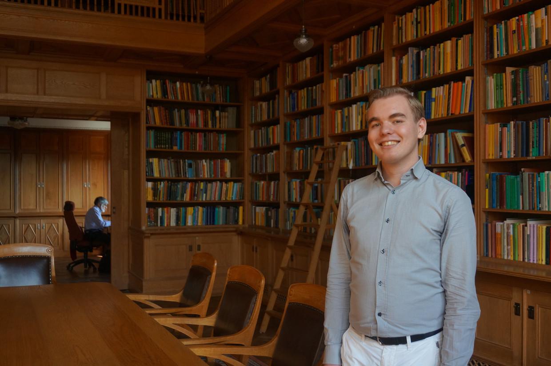 Stefan Buijsman in het wiskundige Mittag-Leffler instituut buiten Stockholm.
