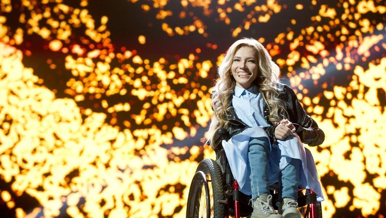 De Russische zangeres Samojlova. Beeld epa