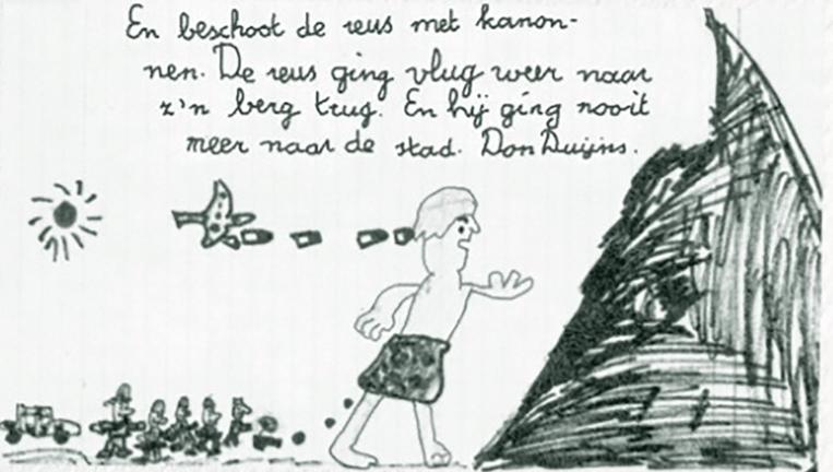 Ook schrijver en regisseur Don Duijns (toen 9 jaar) schreef in zijn jonge jaren een brief naar Achterwerk. Beeld vpro