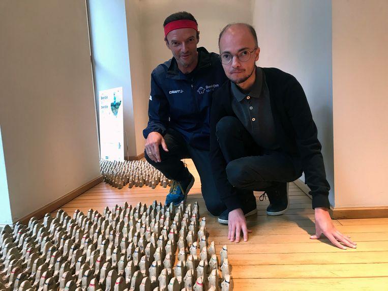 Kankeronderzoeker Johan Swinnen met zijn met zoon Pieter.