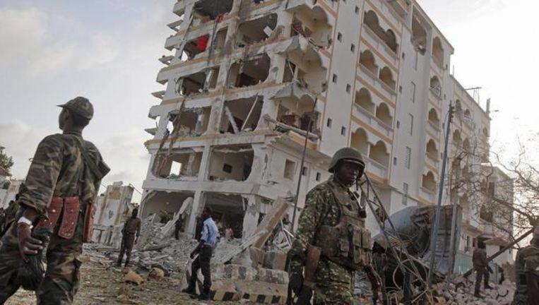 Militairen in Mogadishu.