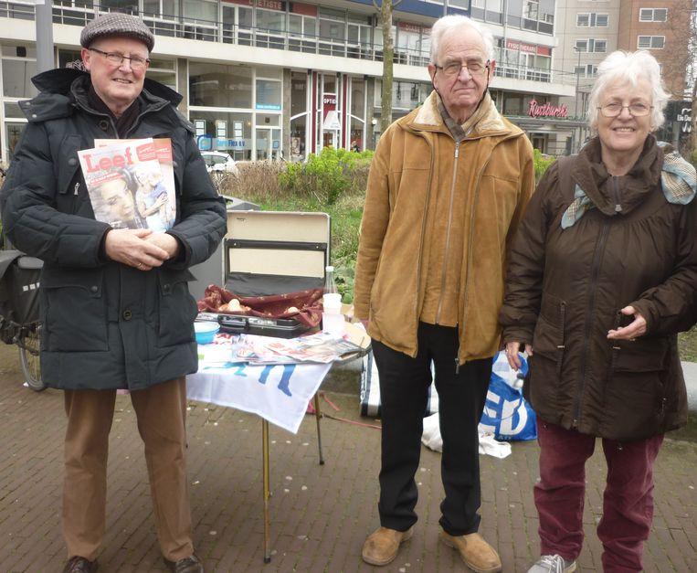 Activisten in Rotterdam. Beeld Marjon Bolwijn