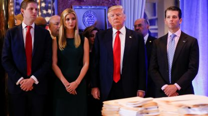 Trump roept zijn 66,5 miljoen Twittervolgers op om boek van zijn zoon te kopen
