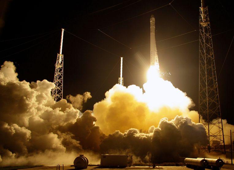Een Falcon 9-raket van SpaceX. Beeld AP