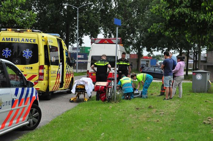 Een fietser raakte vrijdag gewond bij een botsing in Waalwijk.