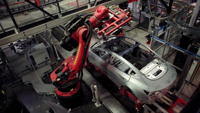L'usine Tesla à Fremont, en Californie.