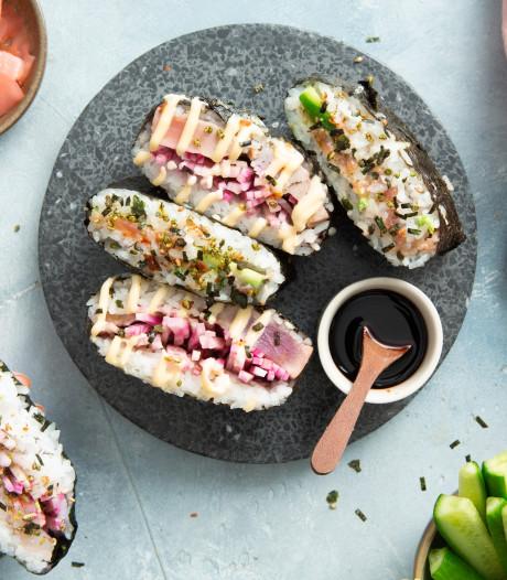 Wat Eten We Vandaag: Sushi-sandwich