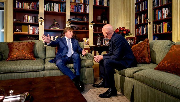 Koning Willem-Alexander wordt geïnterviewd door Wilfried de Jong. Beeld anp