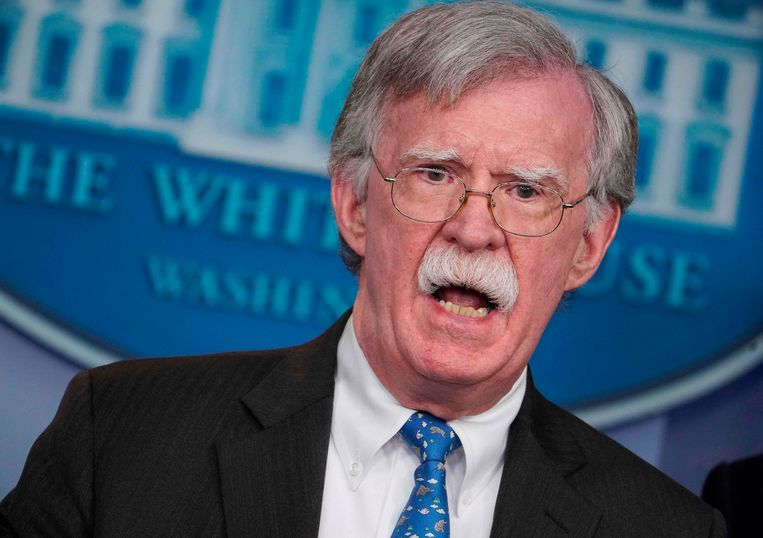 De nationale veiligheidsadviseur van Donald Trump, John Bolton.