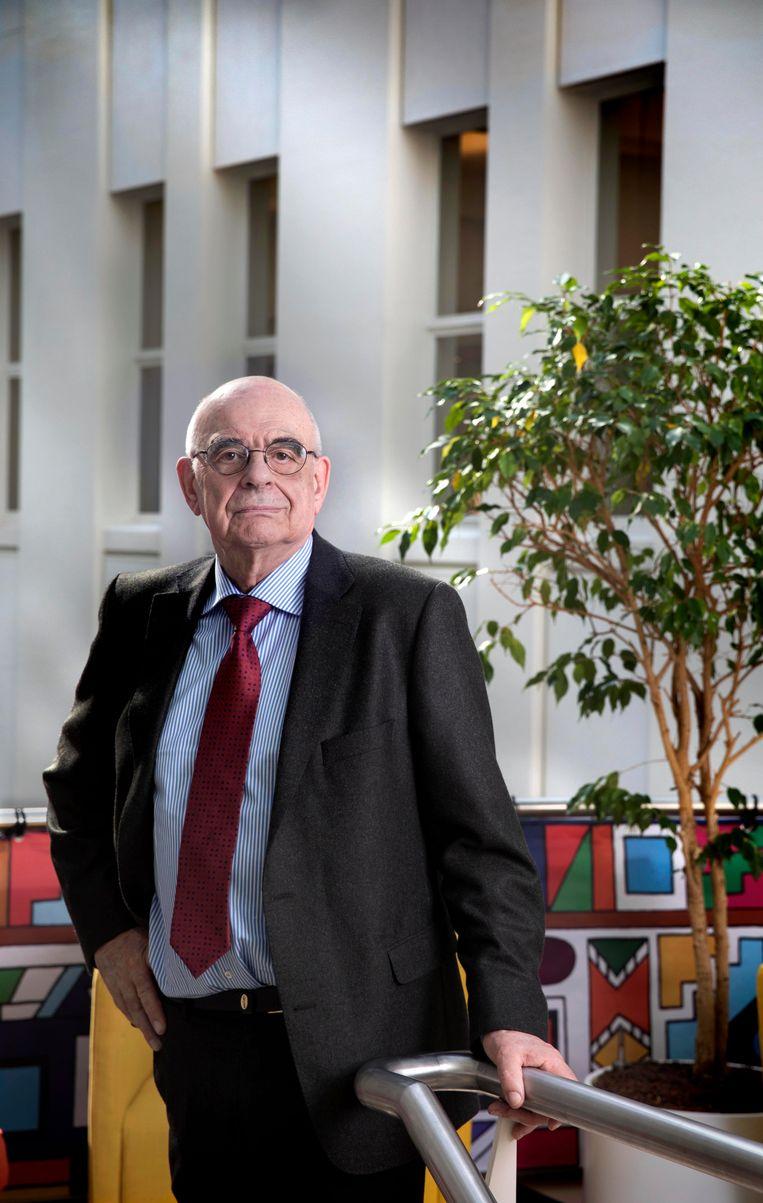 Nederland, Den Haag, 19 april 2018. Jan Pronk, oud-minister, oud-vn-vertegenwoordiger. Docent Institute Social Studies. Foto: Werry Crone Beeld Werry Crone