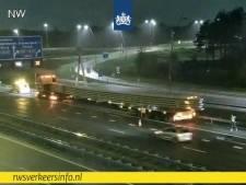 Bijzonder transport strandt op A2 bij Eindhoven