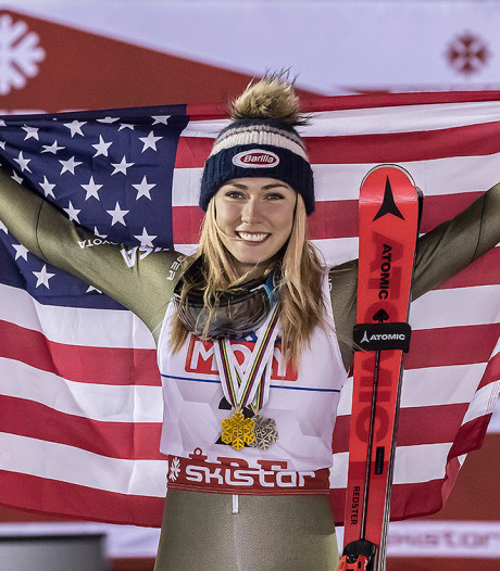 Shiffrin voor vierde keer op rij wereldkampioene op slalom
