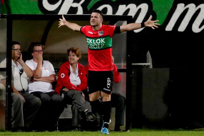 Randy Wolters heeft gescoord voor NEC tegen Telstar. In Den Bosch hopen ze dat de aanvaller het vrijdagavond rustig aan doet.