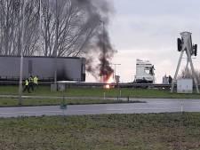 Vrachtwagenbrand zorgt voor vertraging op A27 richting Breda