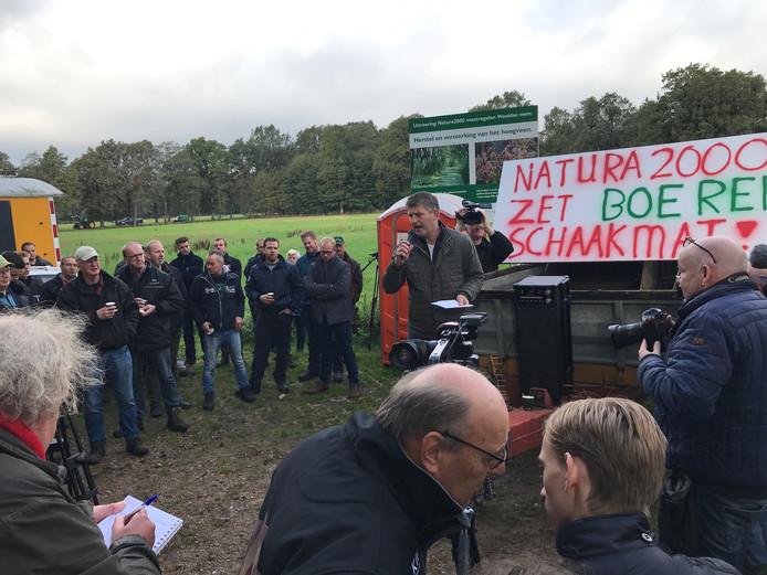 Boerenprotest in Winterswijk.
