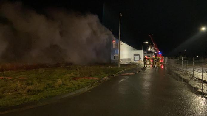 Brand in een loods aan de Kerkstraat in Zevenaar.