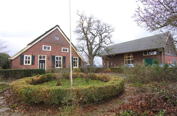 De boerderij in Horssen.