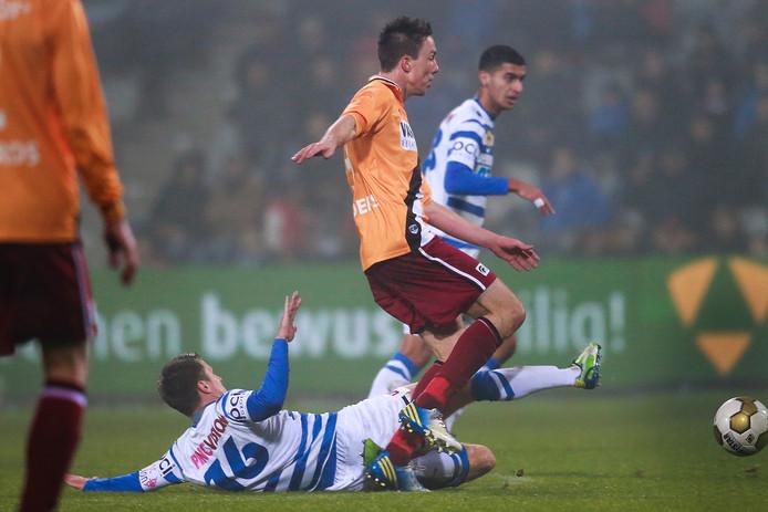 Tim Sanders in de wedstrijd tegen De Graafschap.