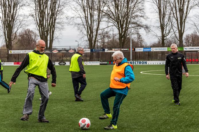 Walking football is dinsdag van start gegaan in Sint Oedenrode.