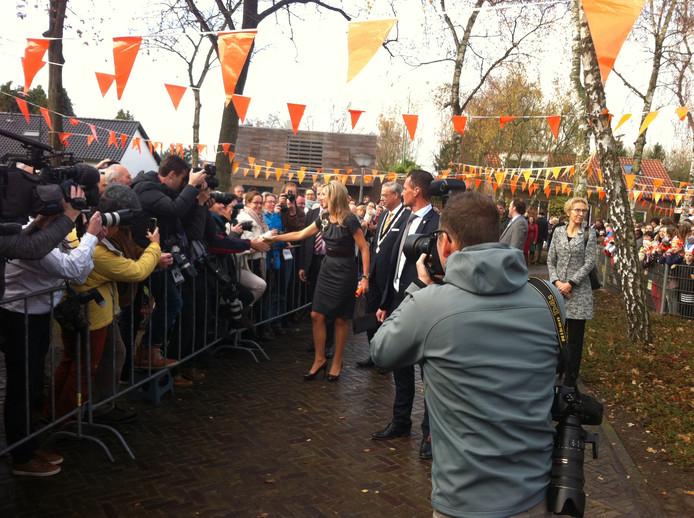 Koningin Máxima brengt bezoek aan De Pracht in Aalst
