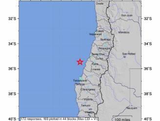 Krachtige aardbeving voor kust van Chili