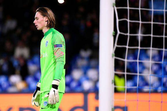 Maarten Vandevoordt ging in de fout bij zijn debuut in de Champions League.