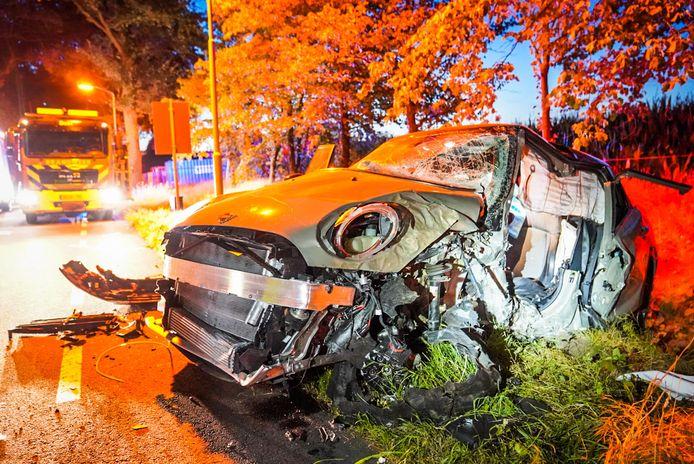 De auto van de 22-jarige bestuurder.
