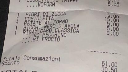 Ober in Rome ontslagen omwille van rotopmerking op rekening voor homokoppel
