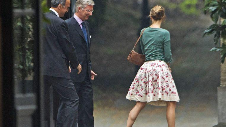 Koning Filip ontvangt Olivier Deleuze en Emily Hoyos van Écolo.